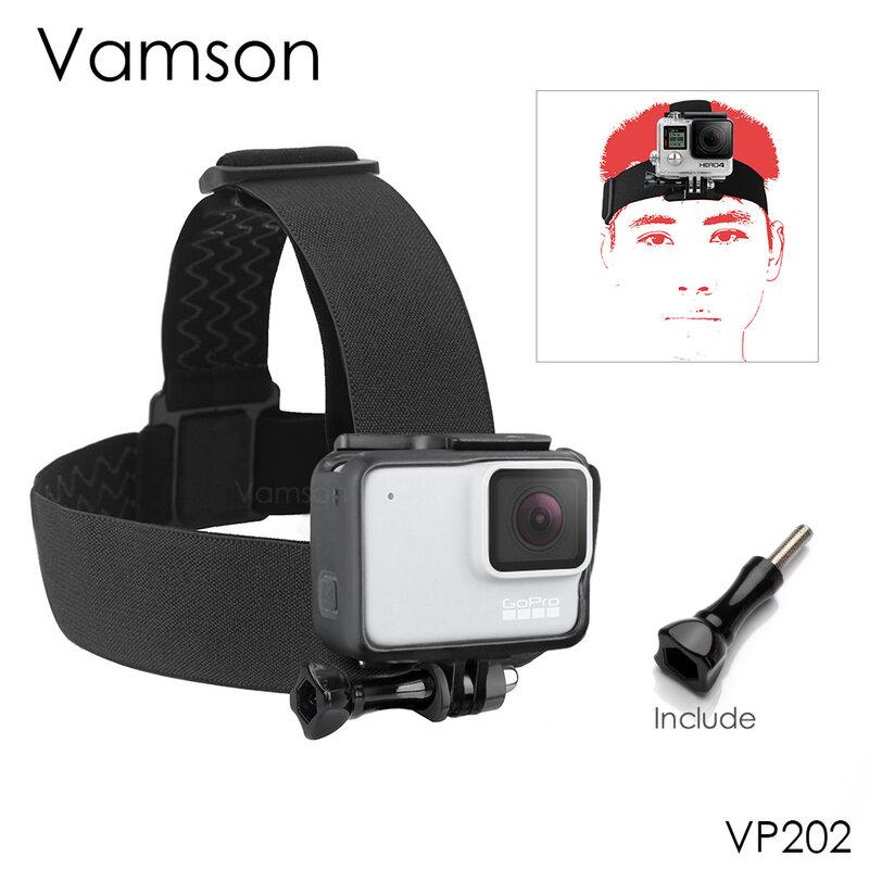 Vamson-حزام رأس قابل للتعديل لـ Gopro Hero ، ملحقات Go pro 9 ، لـ Gopro Hero 9 8 7 6 5 4 3 2 1 ، لـ Yi 4K VP202