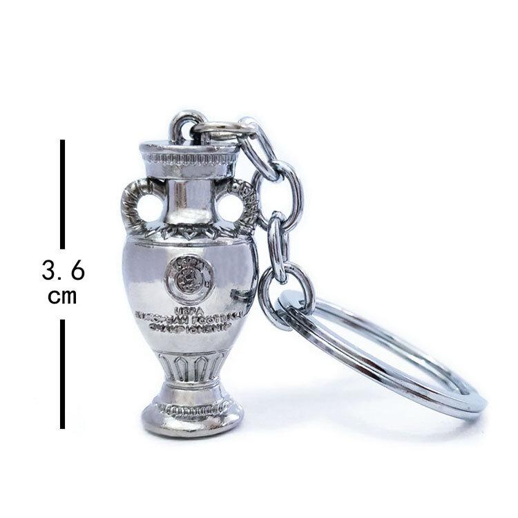 축구 챔피언 미니 트로피 키 체인 팬, 기념 선물 가방 펜던트 열쇠 보관 가방