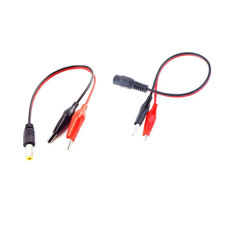 DC 수 암 잭 커넥터 악어 클립 악어 와이어 12V 전원 케이블 2 악어 클립 연결 전압 5.5*2.1mm