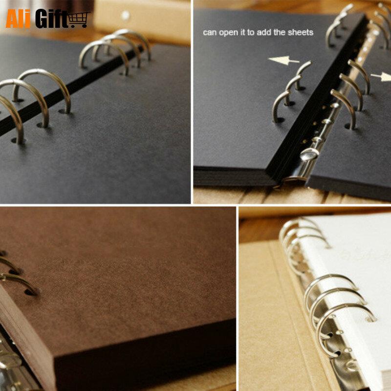 ألبوم أوراق كرافت ذات غطاء فارغ ، يوميات جرافيتي مرسومة يدويًا ، ألبوم صور لحفلة الزفاف ، 40 صفحة