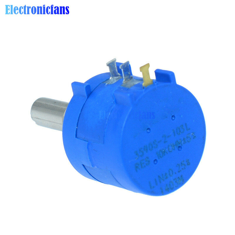 3590S-2-103L 3590S 10K ohm potentiomètre multitours de précision résistance réglable à 10 anneaux