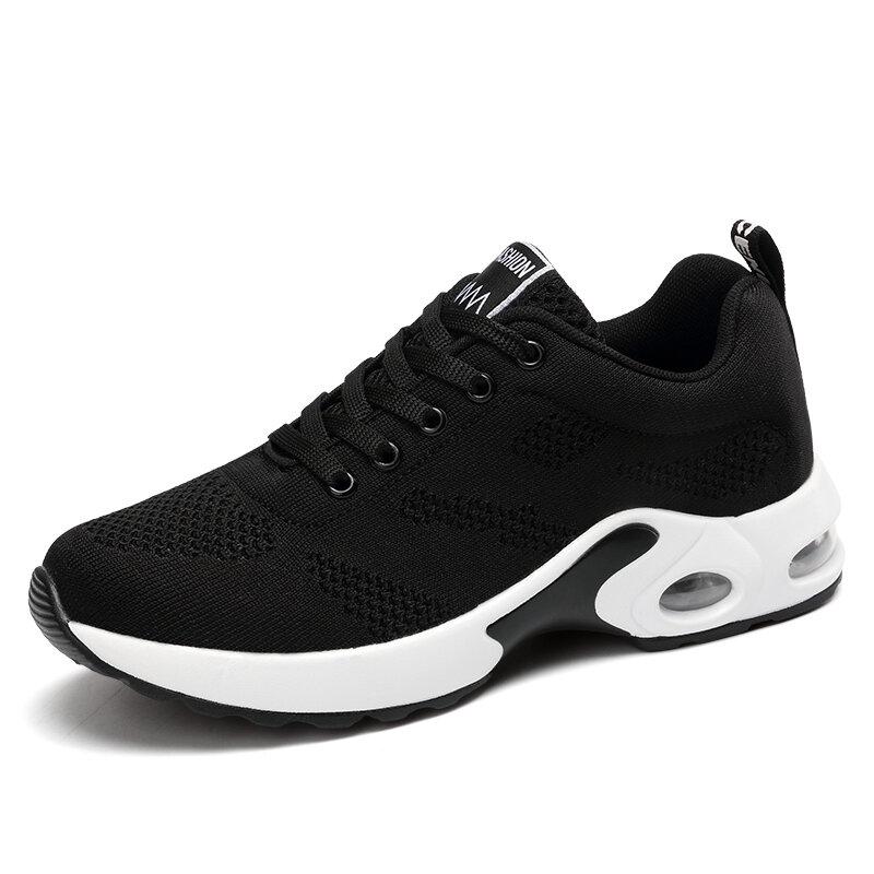Damskie buty sportowe swobodna siateczka trampki różowe kobiety płaskie buty lekkie miękkie trampki oddychające obuwie kosz buty Plus rozmiar