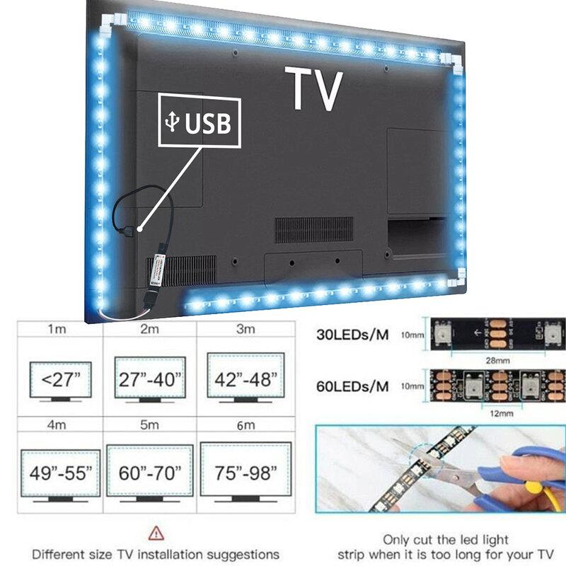 TV ambiente tiras de luz 12V resistente al agua 5050/2835 LED tira de luz Bluetooth luz ambiente TV Led luz RGB banda Led luces