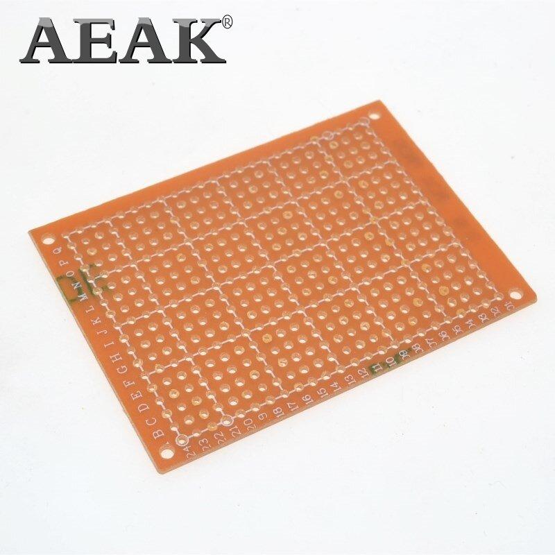 AEAK-prototipo de papel PCB Universal, placa de circuito de matriz de experimentos, 5x7CM, 5x7CM, 10 Uds.
