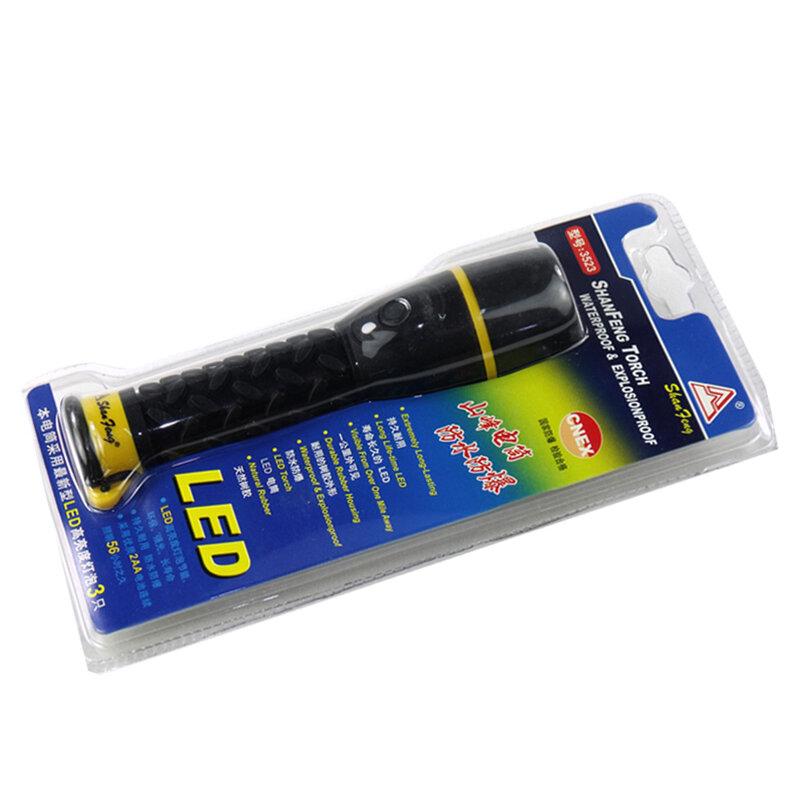 2 * AA Batterie Energie Sparende Und Langlebige Led Taschenlampe, Pvc Wasserdichte Material Tragbare Notfall taschenlampe