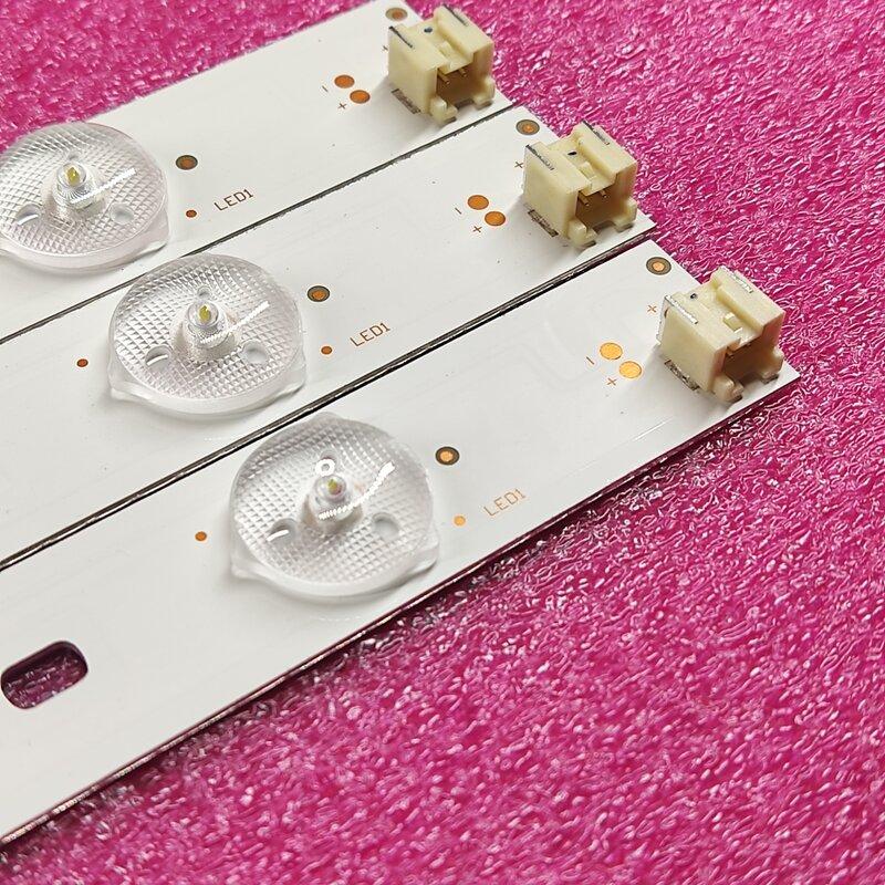 """Kit de 3 uds 6LEDs 627mm tira de LED para iluminación trasera para Toshiba 32 """"TV SVT320AF5 32P1300 32P1400 32P1400VT 32P1400VE 32P1400D 32P2400VT"""