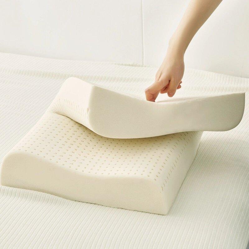 아기 베개 목 베개 대형, 부드러운, 탄성 침대 베개-100% 자연 Talalay 라텍스 베개 아이 베개 수면 베개