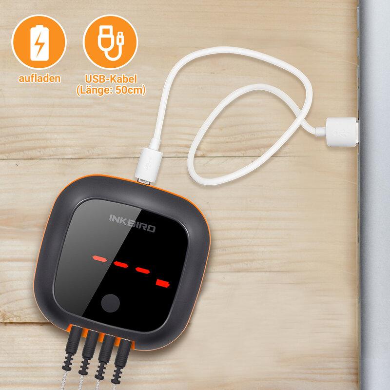 INKBIRD IBT-4XS Digitale Rotation Lesen Bildschirm BBQ Fleisch Kochen Thermometer Bluetooth Verbinden Magnetische Design und 2/4 Sonden