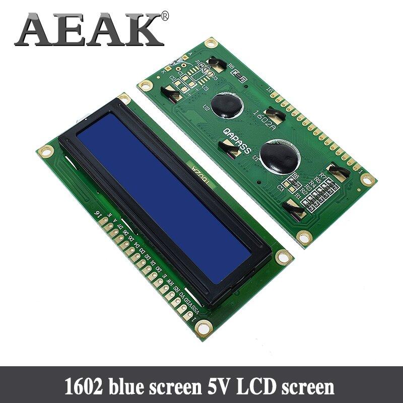 AEAK 1PCS LCD1602 1602 modulo Blu dello schermo di 16x2 Caratteri Display LCD Modulo HD44780 Controller blu blacklight