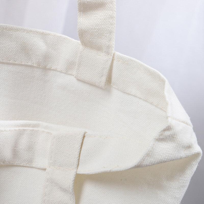 재사용 쇼핑 가방 대형 접는 토트 남여 빈 DIY 원래 디자인 에코 가방 접이식 코튼 가방 캔버스 핸드백 토트 백
