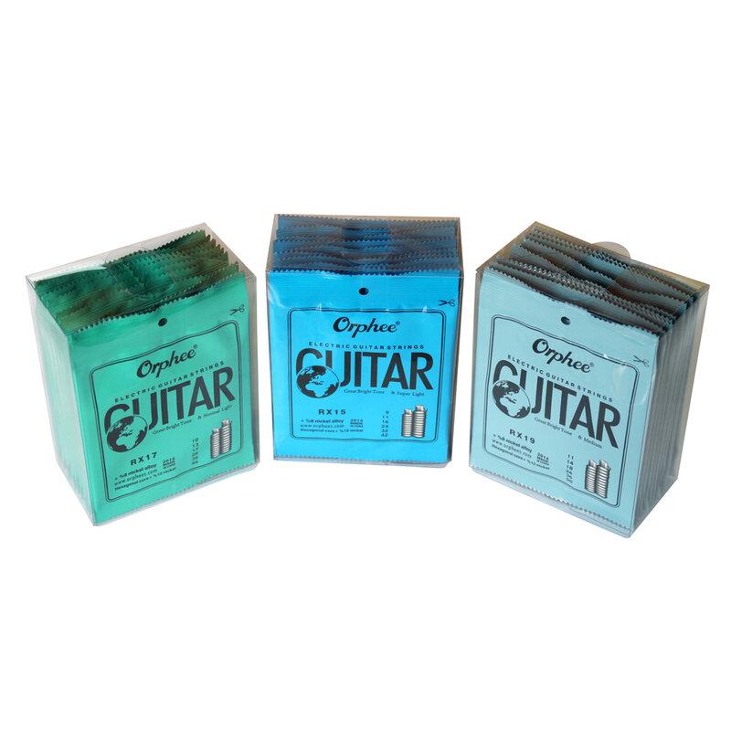 )Ee praticato corde per chitarra in acciaio nichelato per chitarra elettrica con confezione originale al dettaglio