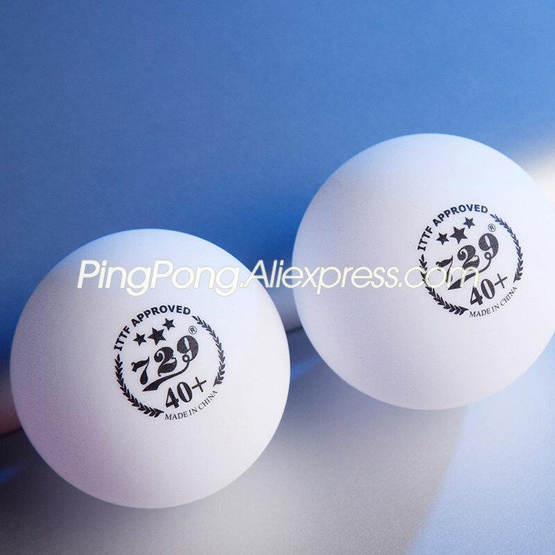 كرة تنس طاولة 3 نجوم ، كرة صداقة بلاستيكية غير ملحومة ، بولي 3 نجوم ، بينج بونج ، معتمدة من ITTF ، 729