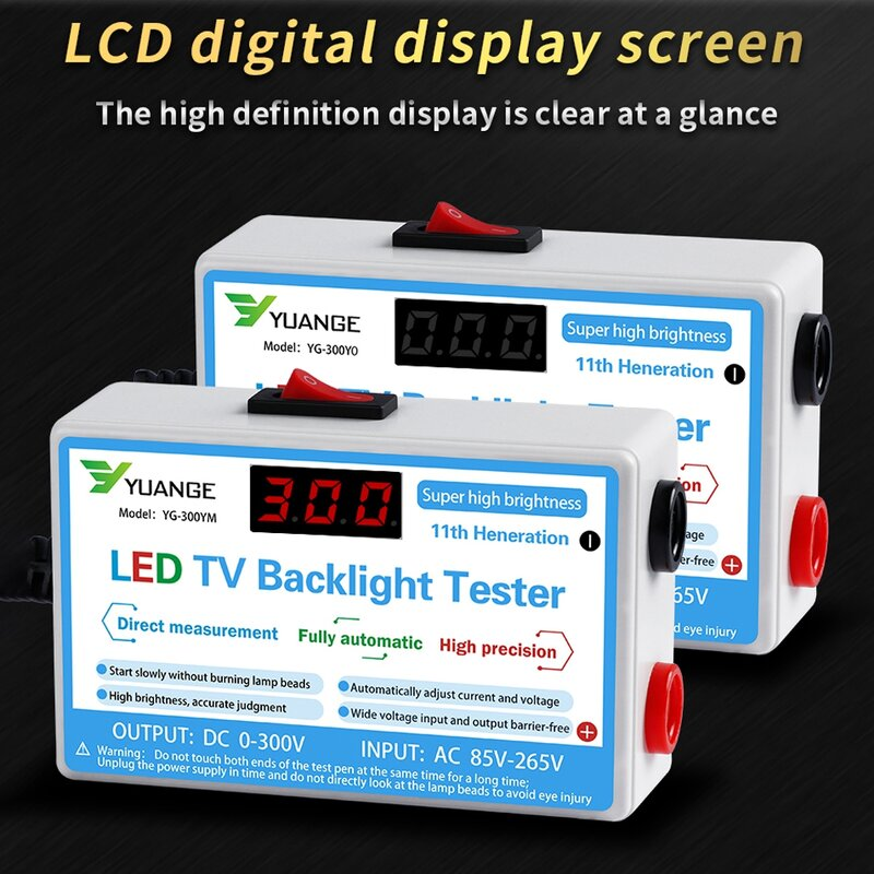 Probador de retroiluminación de TV con lámpara LED, tiras multiusos, herramienta de prueba de cuentas, instrumentos de medición para retroiluminación LED