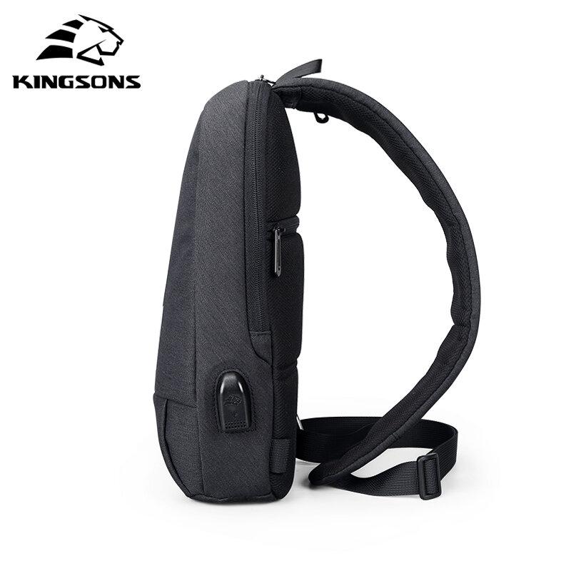 Kingsons-Bolsos de hombro tipo bandolera para hombre, alta calidad, de negocios, a la moda, tamaño grande