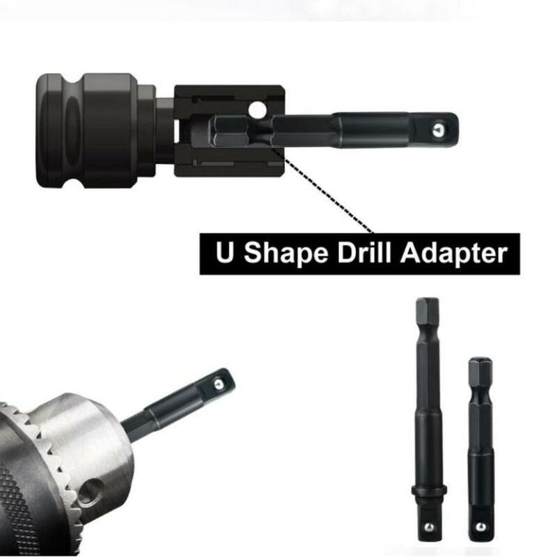 12 teile/satz Buchse Adapter Hex Bohrer Mutter Fahrer Power Schaft Pleuel Kopf Erweiterung Bohrmaschine Bits Bar Schlüssel
