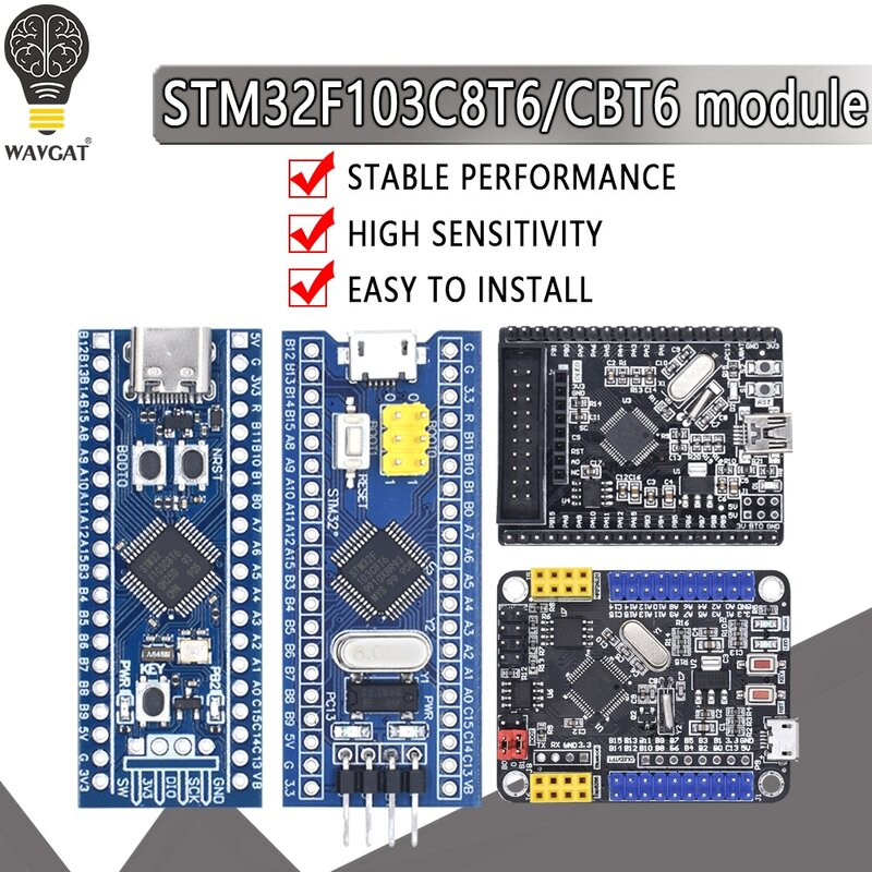 Placa de desarrollo de sistema de aprendizaje para Arduino, Módulo de placa de desarrollo para Arduino 32F103C8T6 STM32F103CBT6 ARM STM32, 32F103C8T6