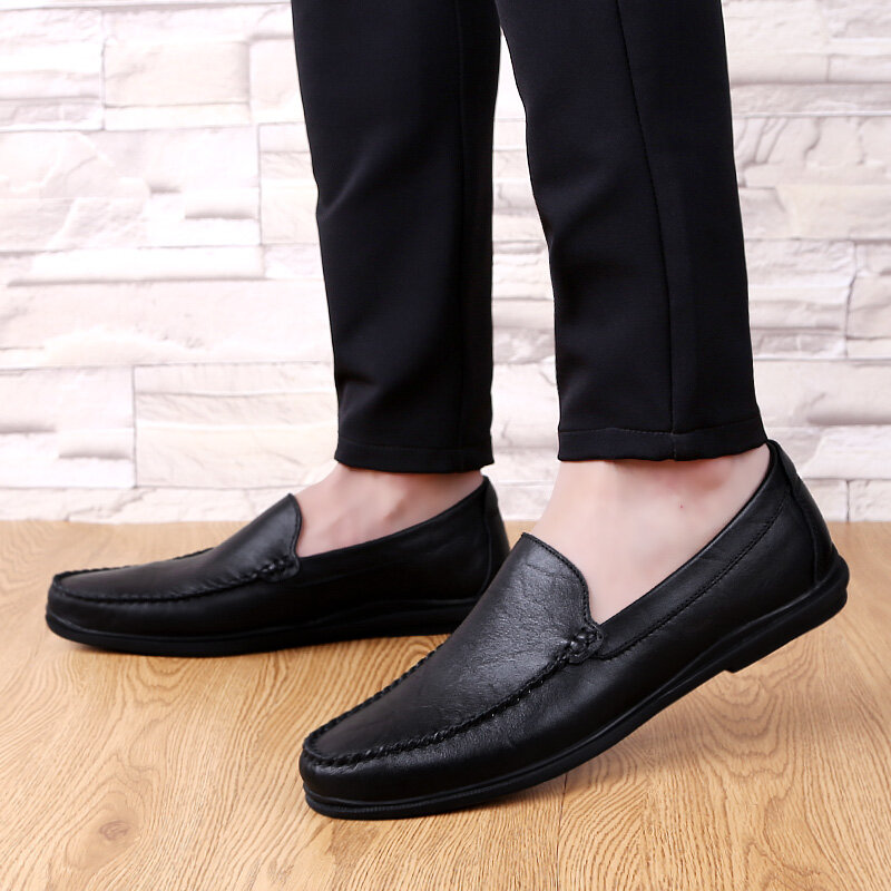 Men Casual Flat Shoes Hollow Mesh Soft Sole Loafers Shoes Mens Fashion Formal Business Driving Boat Shoes Plus Size 45 46