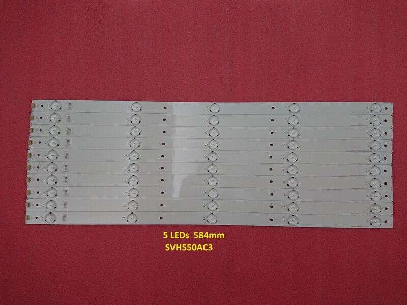 (Nuevo Kit), 10 Uds., 5LEDs, tira de LED para iluminación trasera de 584mm para SVH550AH9 SVH550AC3 5LED D550DF LED55K220 LED55K1800 LED55K22