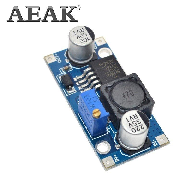AEAK XL6009 DC-DC الداعم وحدة وحدة امدادات الطاقة الناتج هو قابل للتعديل سوبر LM2577 خطوة متابعة وحدة