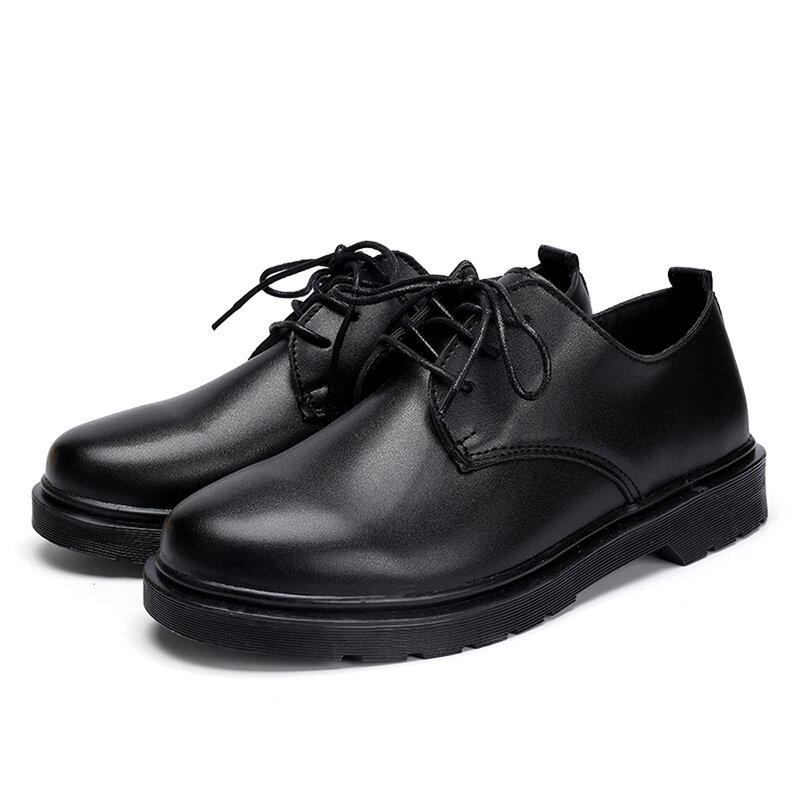 ฤดูใบไม้ผลิฤดูใบไม้ร่วงหรูหรารองเท้าผู้ชายผู้ชายขนาดใหญ่ Oxfords ทุกวันสำนักงานธุรกิจรองเท้...