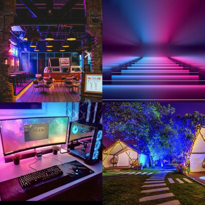 LED luces de tira RGB 5050 resistente al agua lámpara Flexible cinta de Bluetooth Color de sueño luces led 5M10M DC12V Control de la música para la habitación