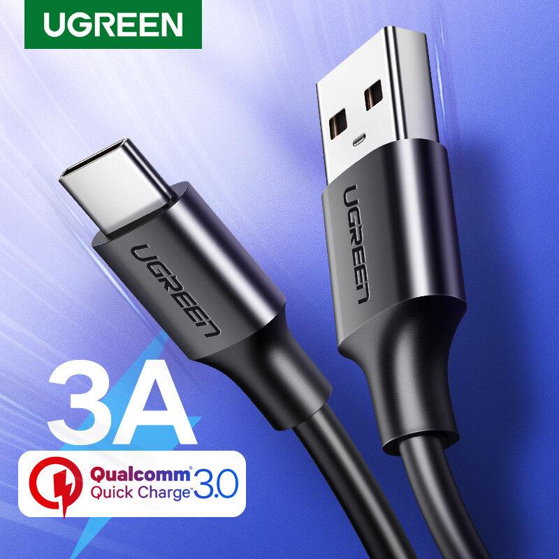 UGREEN USB C Kabel Typ C Kabel 3A Schnelle Lade USB Kabel für Samsung S21 Xiaomi 11 Pro USB Typ C Daten Ladekabel USB C