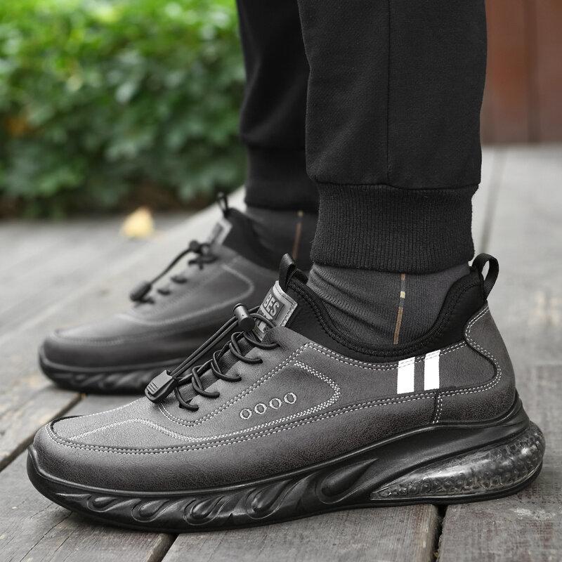 tenis masculino Zapatos de papá antideslizantes para hombre, calzado deportivo de fondo suave para padres, de mediana edad y ancianos, zapatos de ocio impermeables