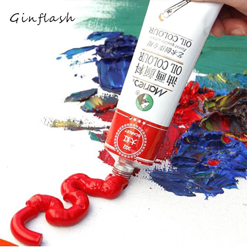 Professionalสี 50 มล.แต่ละหลอดน้ำมันสีสีวาดภาพวาดสีอุปกรณ์ศิลปะAOA011