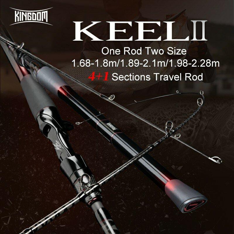 Kingdom 2021 New Keel-II ประมง Rod 4 + 1ส่วนปลาเทราท์เหยื่อปั่นสำหรับตกปลา Ultralight Feeder คาร์บอนตกปลาแท่ง