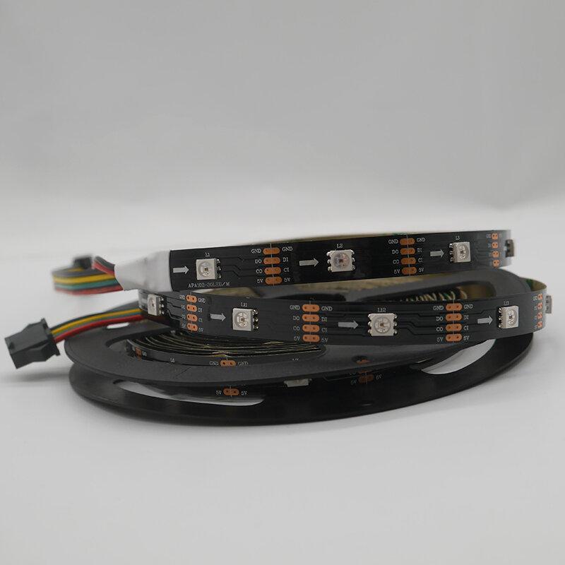 DC5V APA102 데이터 및 클럭 별도 스마트 led 픽셀 스트립, 1m/3m/5m, 30/60/144 led/pixels/m, IP30/IP65/IP67