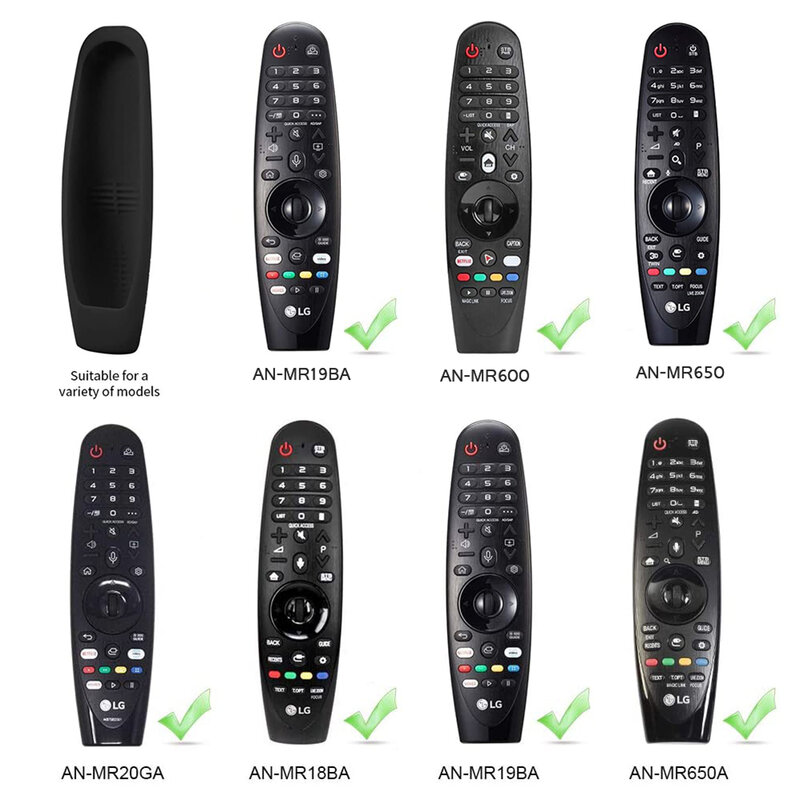 TV 리모컨 보호 케이스 LG AN-MR600 MR650 MR18BA MR19BA MR20GA 매직 원격 실리콘 커버