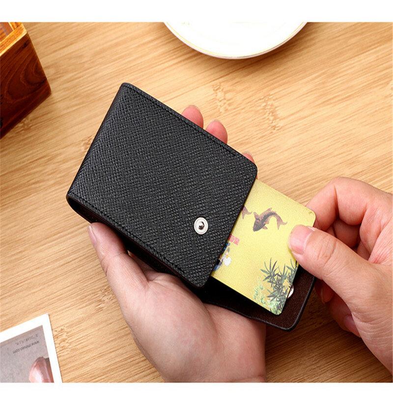 남성 신용 카드 소지자 가죽 지갑 카드 케이스 지갑 신용 ID 은행 카드 소지자 여성 카드 소지자 pasjeshouder mannen