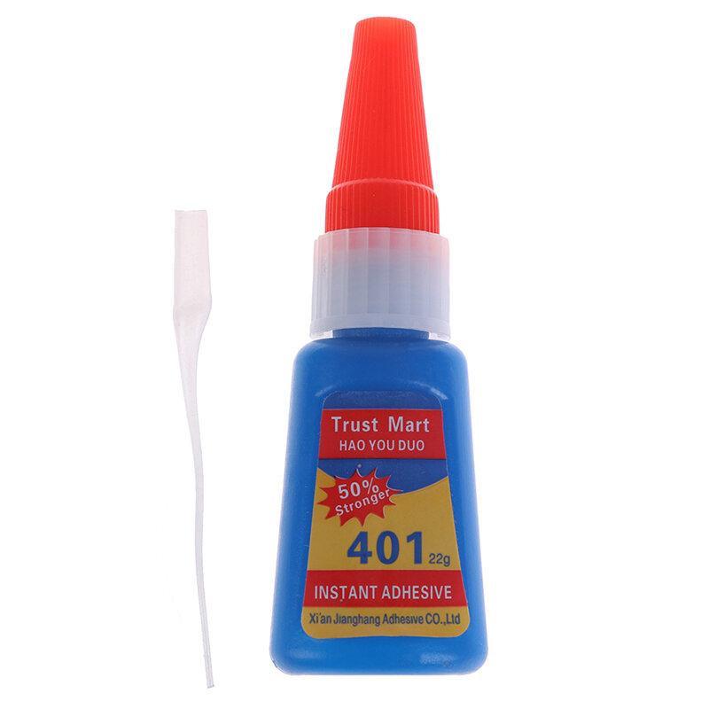 20ml 401 Flüssigkeit Super Kleber Trocknen Schnell Kleber Starke Bond Leder DIY Instant Trockenen Gel Reparatur Werkzeuge