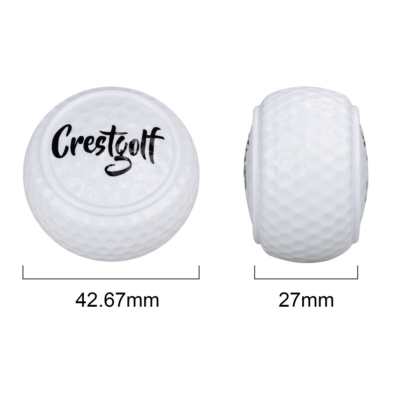 Balles de Golf dures originales pour débutants, 1 pièce/5 pièces, balles à deux couches, terrain de conduite, outils d'entraînement