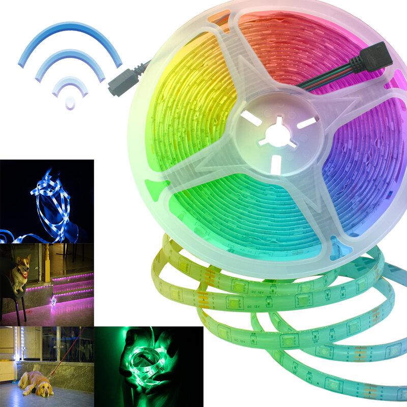 مصباح ليد أضواء الشريط واي فاي تحكم RGB 2835 لا مقاوم للماء 5 متر 10 متر 20 متر سلسلة مرنة ديود زخرفة خلفية ضوء الليل
