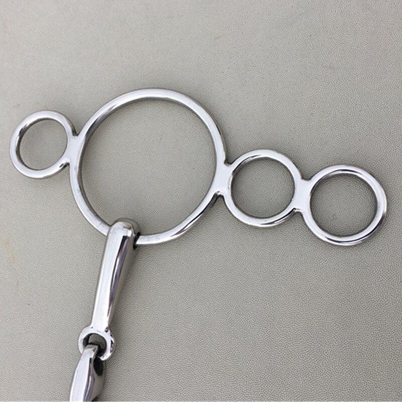 สแตนเลสContinental Gag Ring Bit Horseอุปกรณ์ 5 นิ้วปากเป่าHorse Bit (H0916)