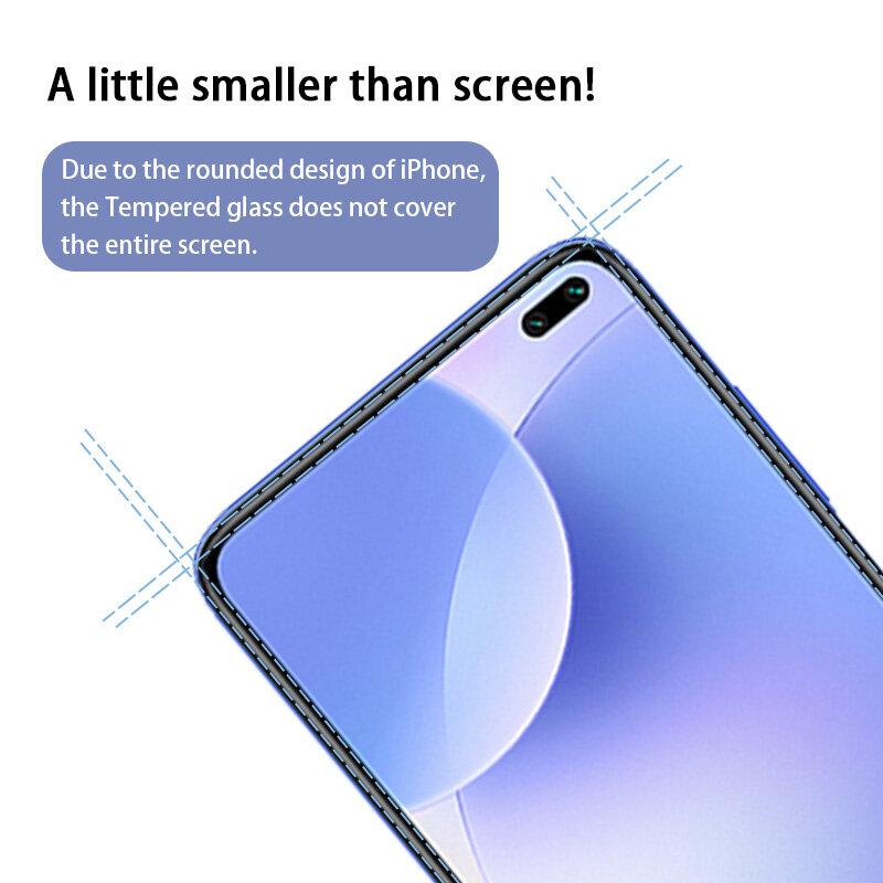 Protector de pantalla de vidrio templado para móvil, cubierta completa para Xiaomi Redmi 7, 8, 9 A, 9S, 9T, 8, 9, 10 Pro, Max, Note 10, 4 Uds.