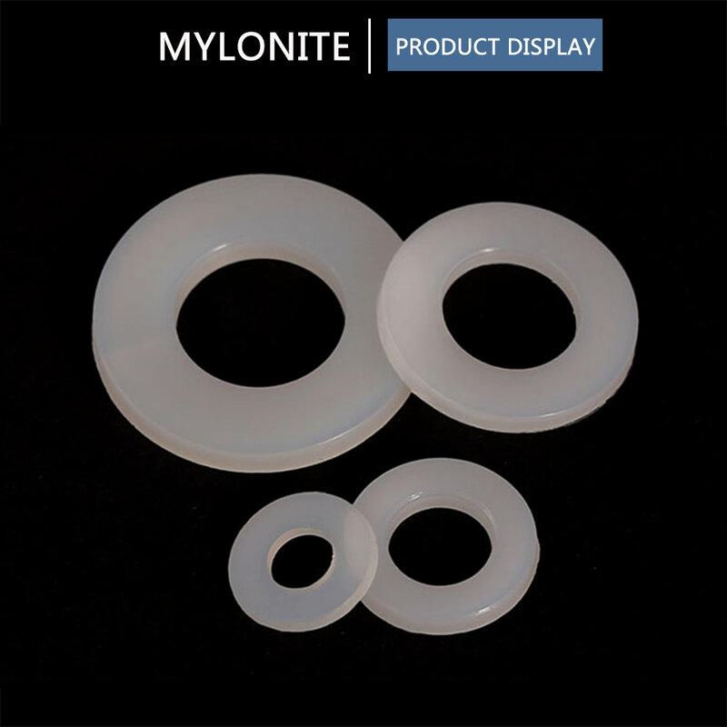 Rondella di Nylon bianca guarnizione piatta M2-M20 o-ring di tenuta in plastica Kit assortimento Set di rondelle di protezione