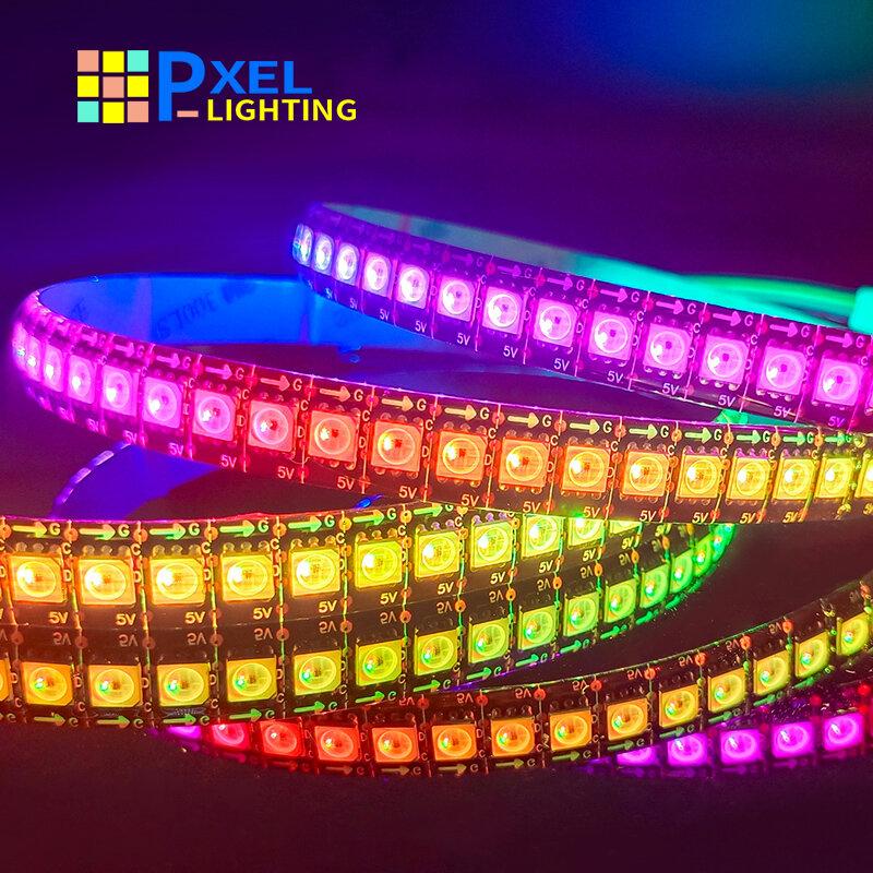 Tira de luces Led RGB, accesorio Similar a APA102 1m 3m 5m 30 60 144 LED, datos y reloj direccionable individualmente, habitación DC5V, SK9822