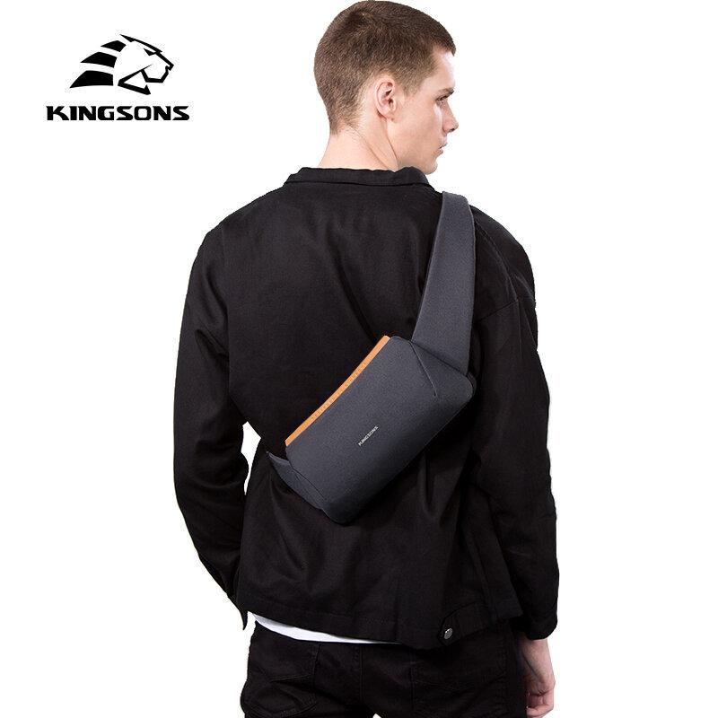 Kingsons Kleine Hohe Qualität Schulter Tasche Männer Messenger Bags Männlichen Wasserdichte Sling Brust Tasche Junge Walking Bagpack Kreuz Körper
