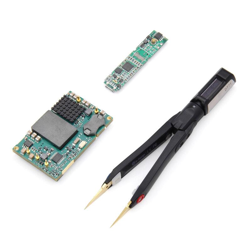 DT71 OLED Display Multifunktions Digitale Intelligente Pinzette Signal Generator Debugging Der Reparatur Werkzeug für Prüfung Widerstand