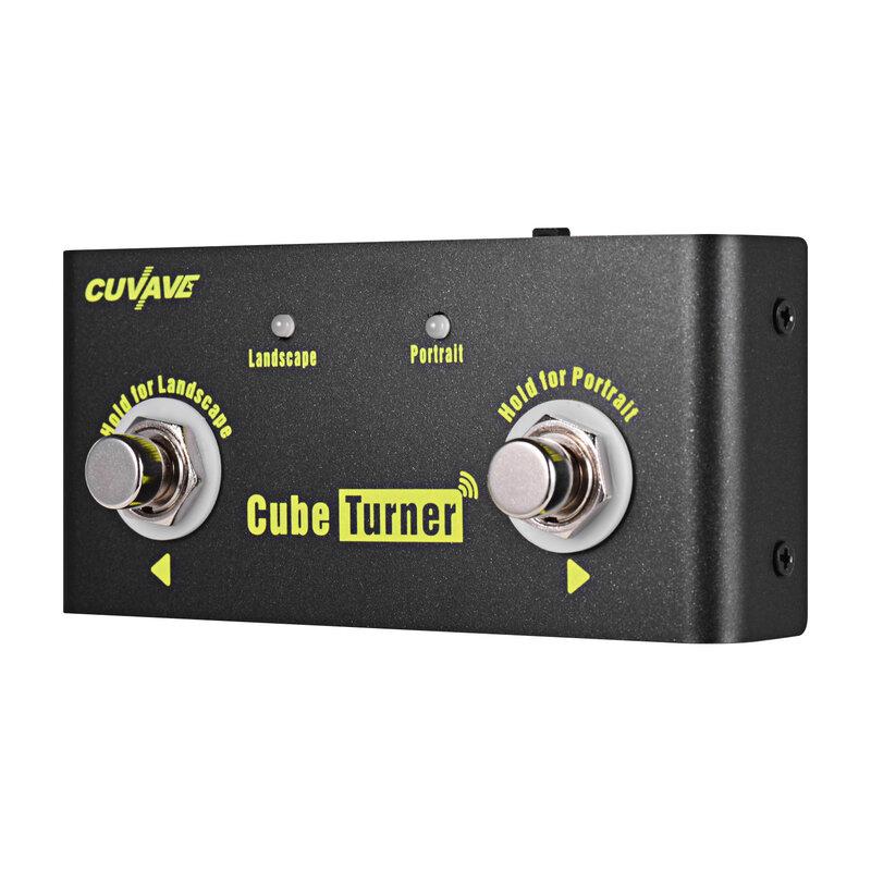 CUVAVE Cube Turnerไร้สายPage Turnerเหยียบแบตเตอรี่ในตัวLooperการเชื่อมต่อiPad iPhone Android
