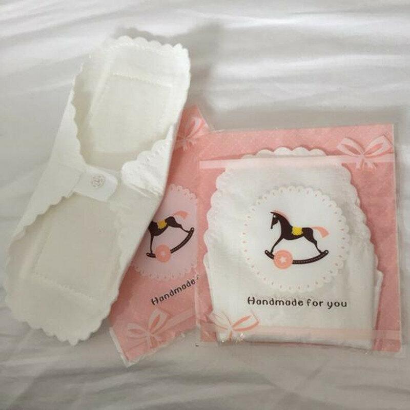 3 Pcs Thin Verwendbarer Baumwolle Pads Menstruations Tuch Sanitär Weichen Pads Serviette Waschbar Wasserdichte Panty Liner Feminine Hygiene Pads