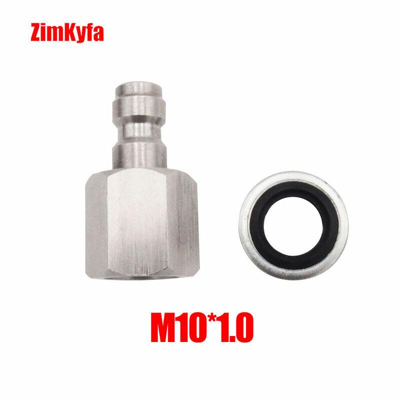 """Paintball PCP 8mm tubo flessibile di ricarica aria in acciaio inossidabile a sgancio rapido maschio Pulg 1/8 """"NPT / 1/8"""" BSPP / M10 * 1.0"""