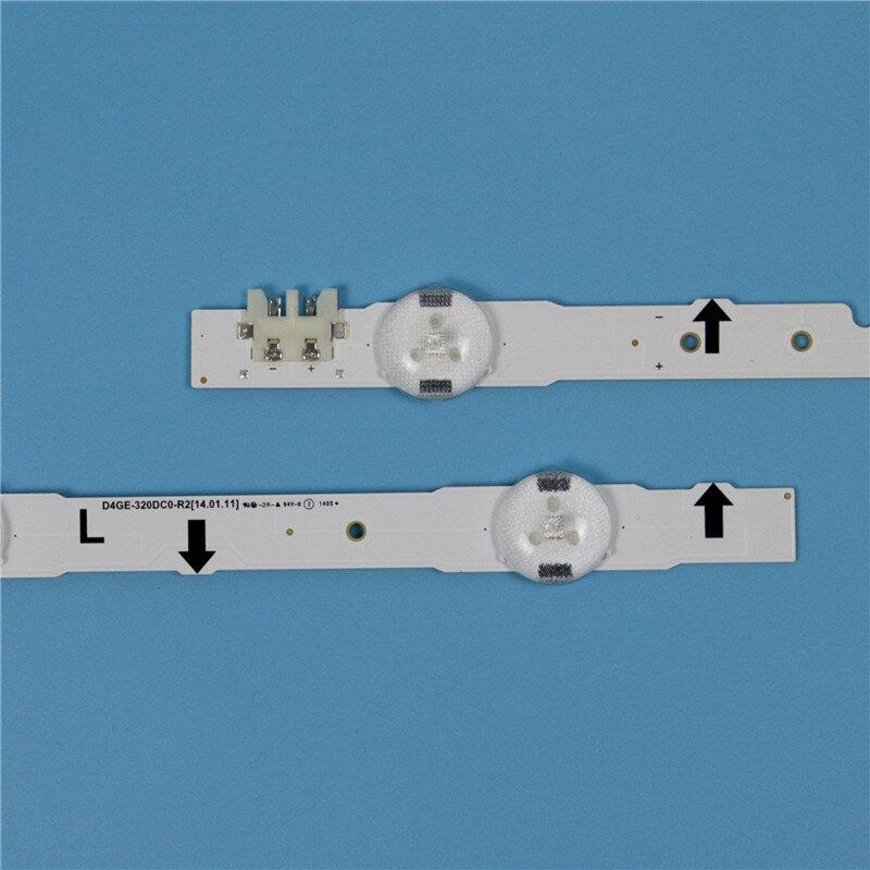 LED Backlight strip 7 Lamp For Samsung UE32H4000AK UE32H4100AK UE32H4510AK UE32J4100AK UE32J4000AK UE32H4500AK D4GE-320DC0-R3