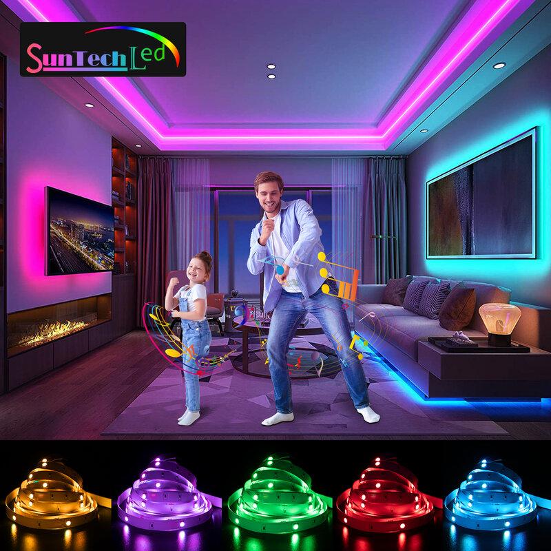 Suntech Led 스트립, 5m-30m SMD 5050 블루투스 음악 Led 조명, 전화 앱 원격 제어, 침실 장식, 거실
