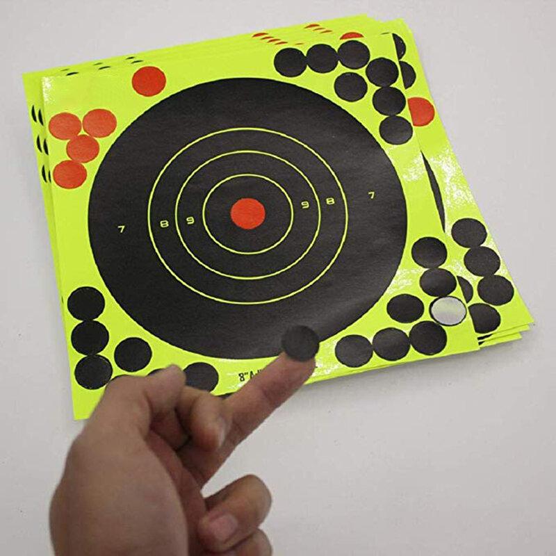 10 pezzi lotto colore Splash fiore bersaglio adesivo da 8 pollici reattività Target adesivi tiro leggero obiettivo durevole reattività obiettivo