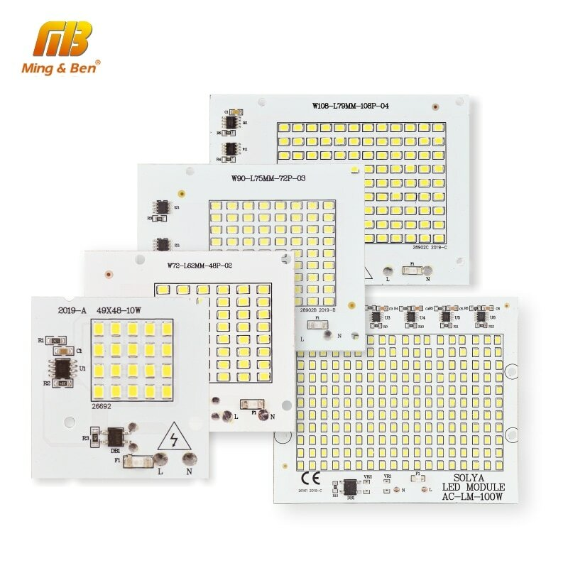 LED Lampe Chip SMD2835 Perlen Smart IC 220V Eingang 10W 20W 30W 50W 100W DIY Für Outdoor Flutlicht Scheinwerfer Kaltes Weiß Warm Weiß