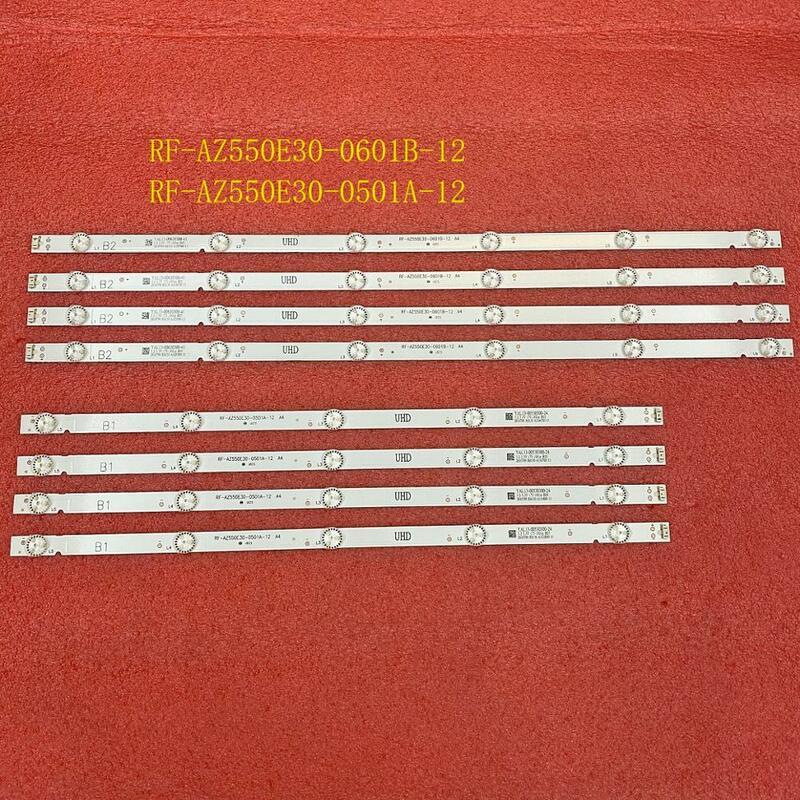8 unids/set tira de LED para iluminación trasera para Philco PTV55U21 LG 55UJ6300 55UJ6200 55UJ6000 55LJ620V 55UJ620V RF-AZ550E30-0601B-12 0501A A4
