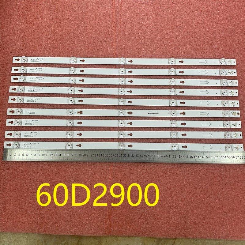9 개/대 5LED LED 백라이트 TCL U60V6026 60D2900 4C-LB6005-HR01J LVU600LG0T5 TOT_60D2900_9X5_3030C